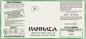 etichetta DANNATA barrel aged