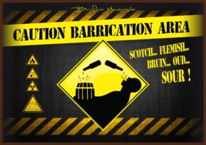 Caution Barrication Area bandierina